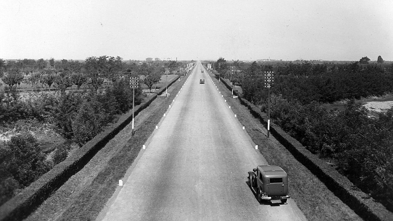 Autostrada Milano-Laghi (Archivio storico Anas)