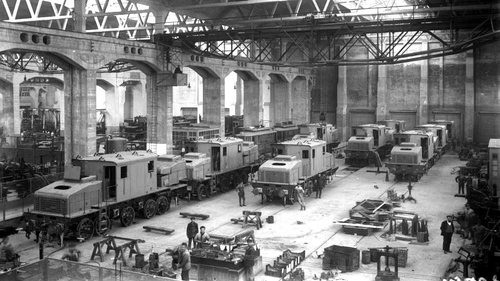 Stabilimento Ansaldo nel 1935 (fonte: ansaldo-sts.com)