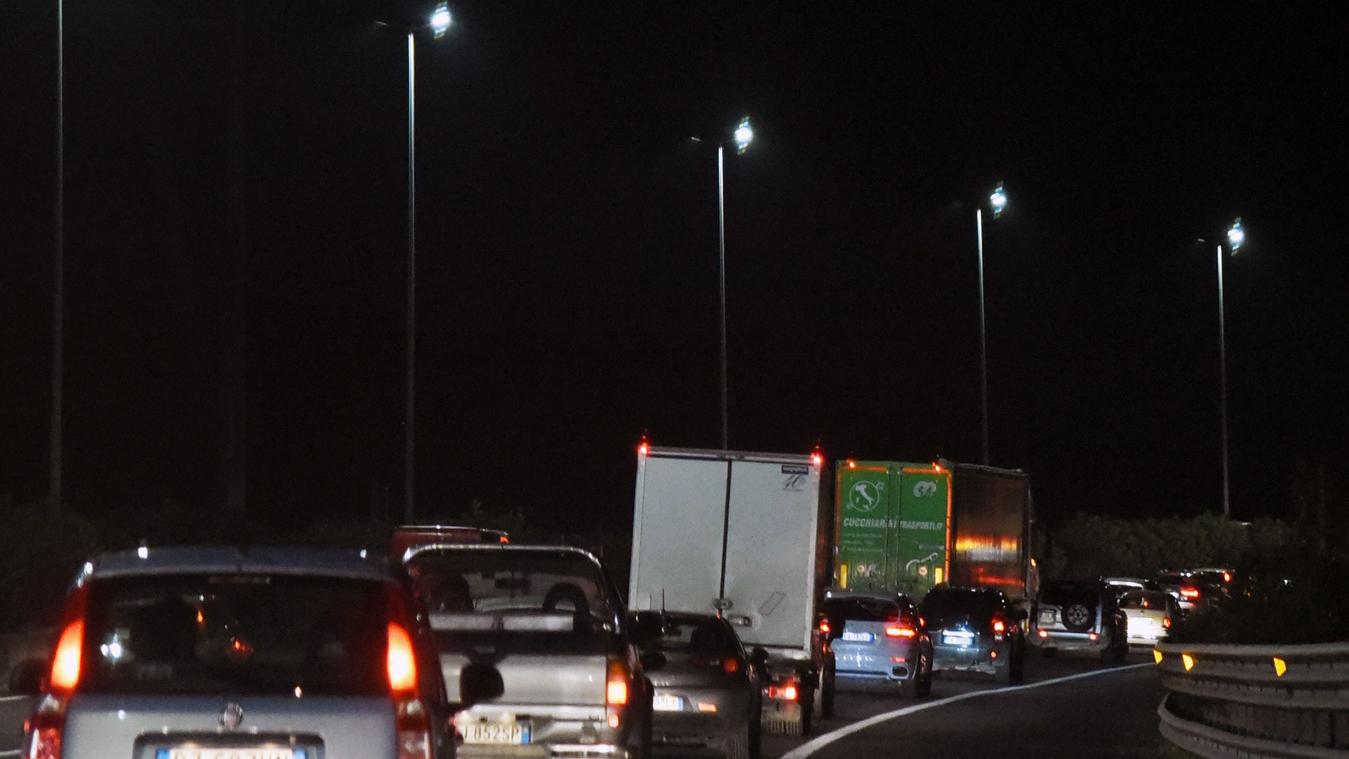 Traffico in autostrada (Archivio storico Anas)