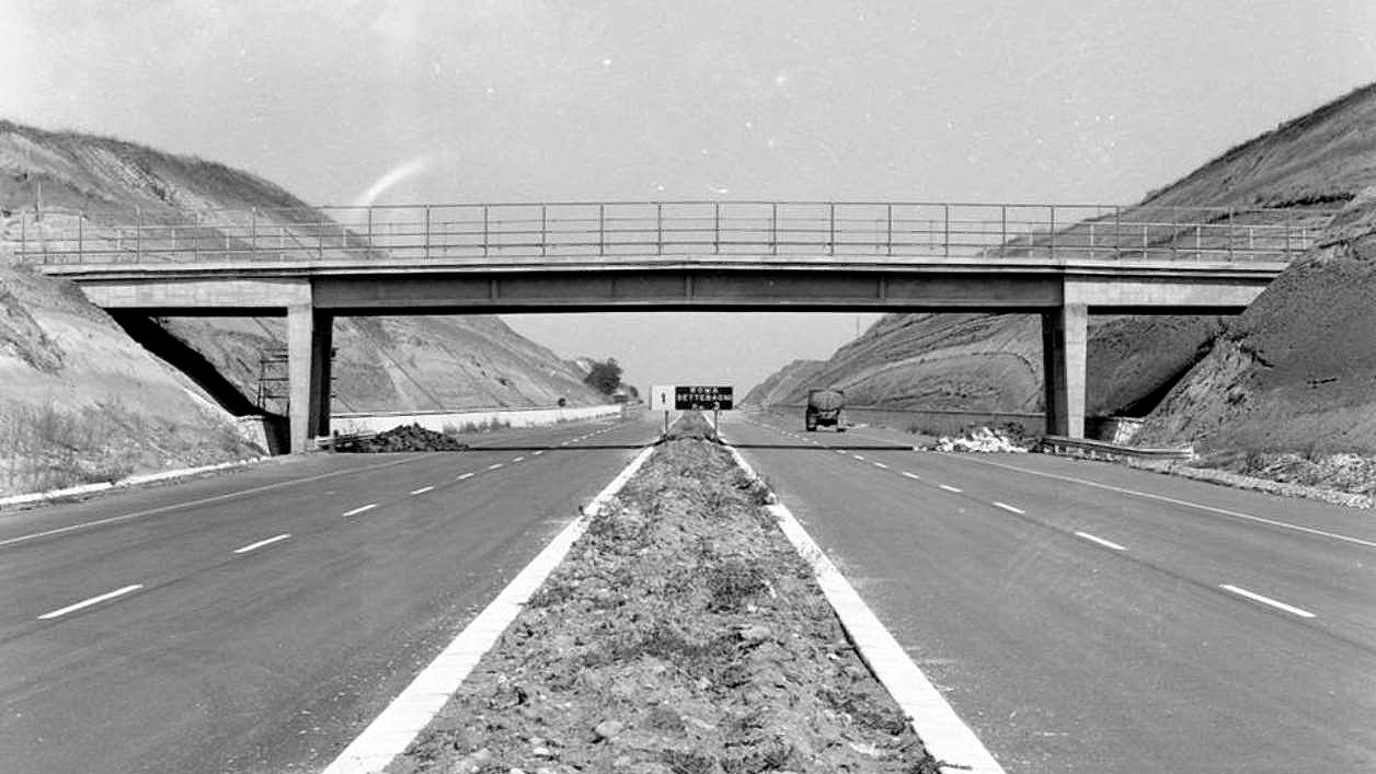 Tratto dell'Autostrada del Sole nei pressi di Settebagni, Roma (fonte: ansa.it)