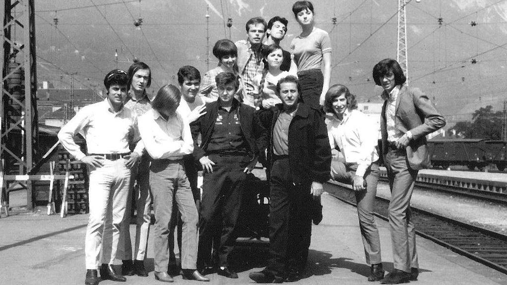 Foto di gruppo, cantanti al Cantagiro 1966