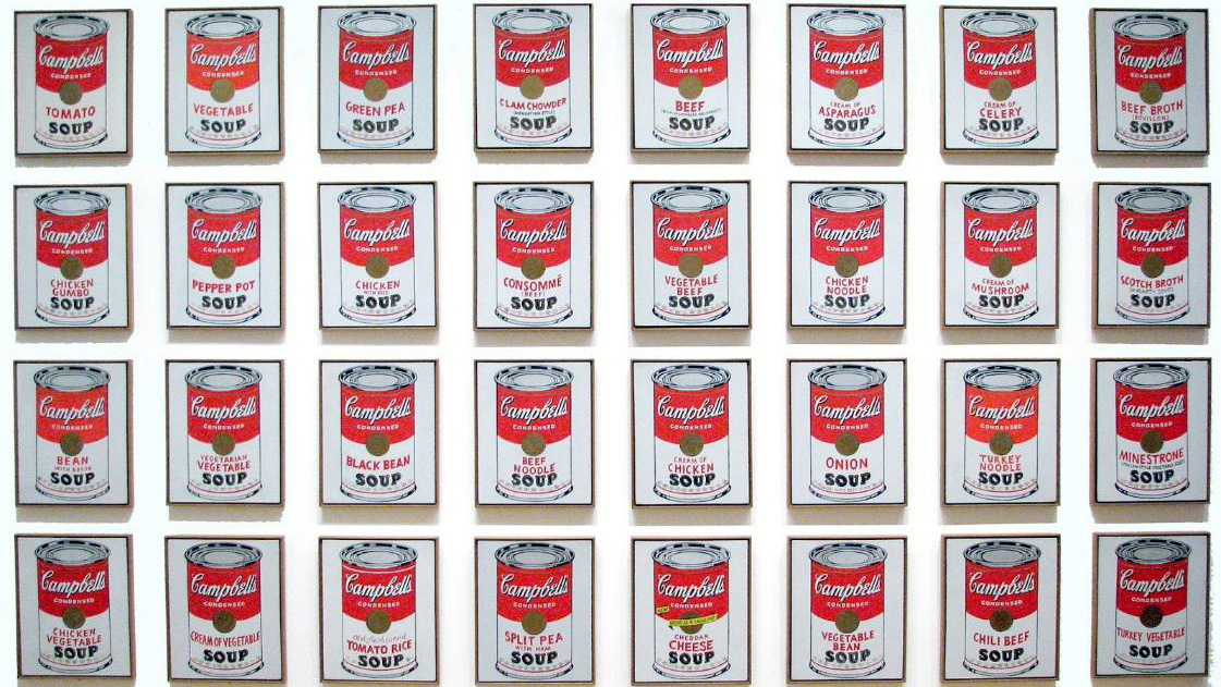 Andy Warhol: Campbell Soup, 1962-1964.