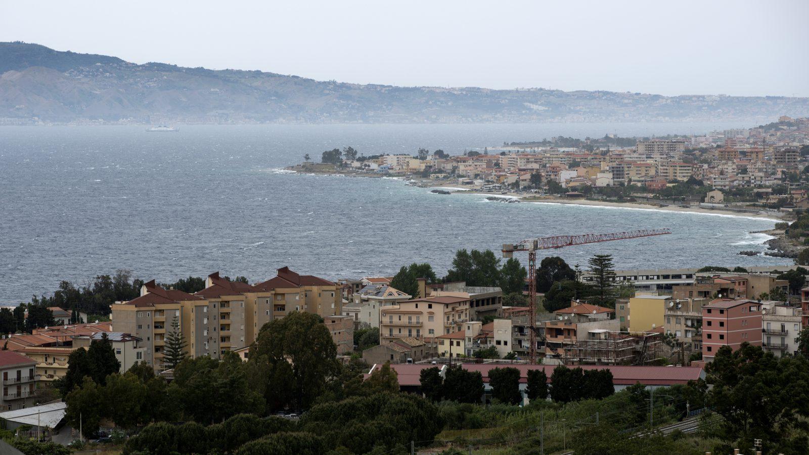 Vista dello Stretto di Messina da Reggio Calabria (Archivio storico Anas)