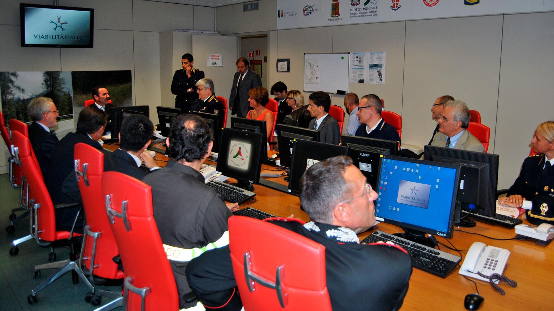 Il coordinamento di Viabilità Italia, presieduto dal direttore del servizio polizia Stradale