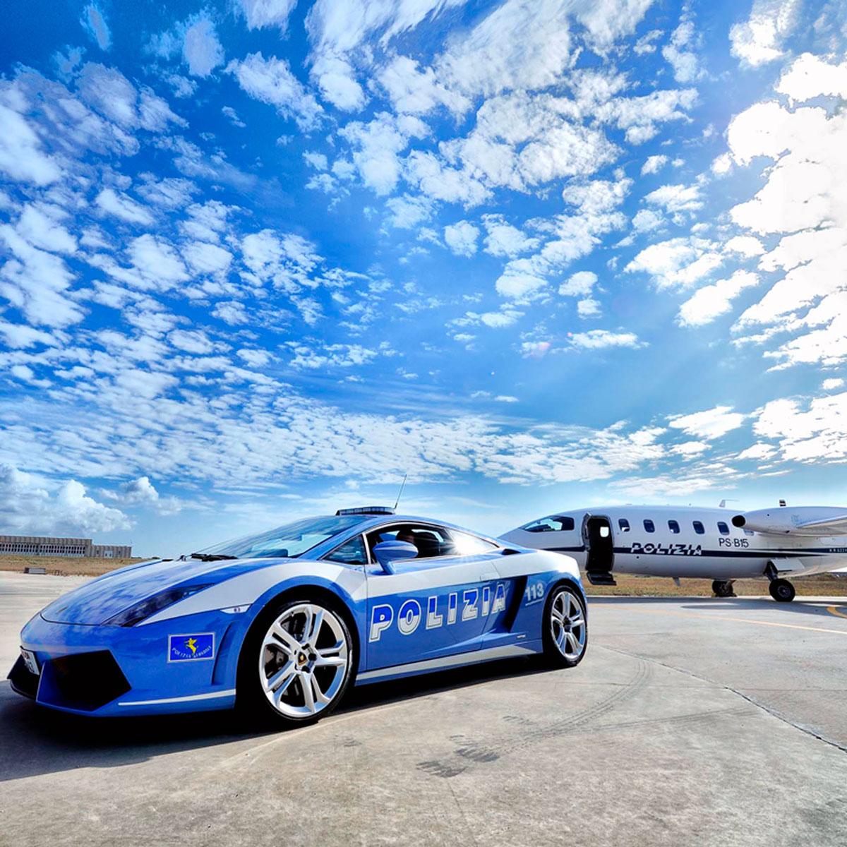 Lamborghini in dotazione alla Polizia Stradale