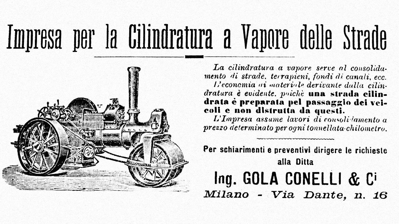 """La prima inserzione di """"Le Strade"""", marzo 1898 (fonte: Archivio leStrade - Casa Editrice La Fiaccola)"""