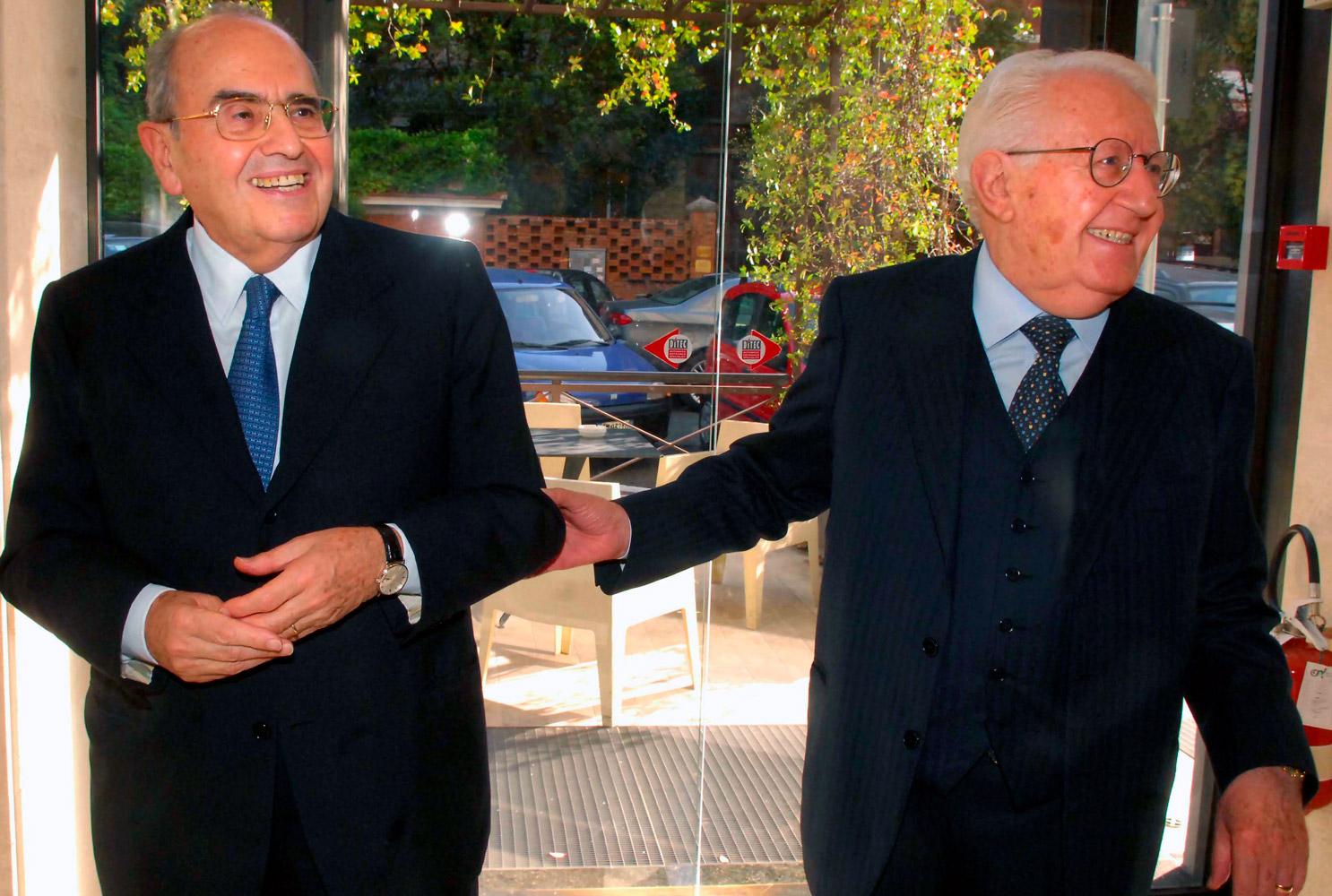 Giuseppe Zamberletti e Francesco Merloni (fonte: Imagoeconomica)