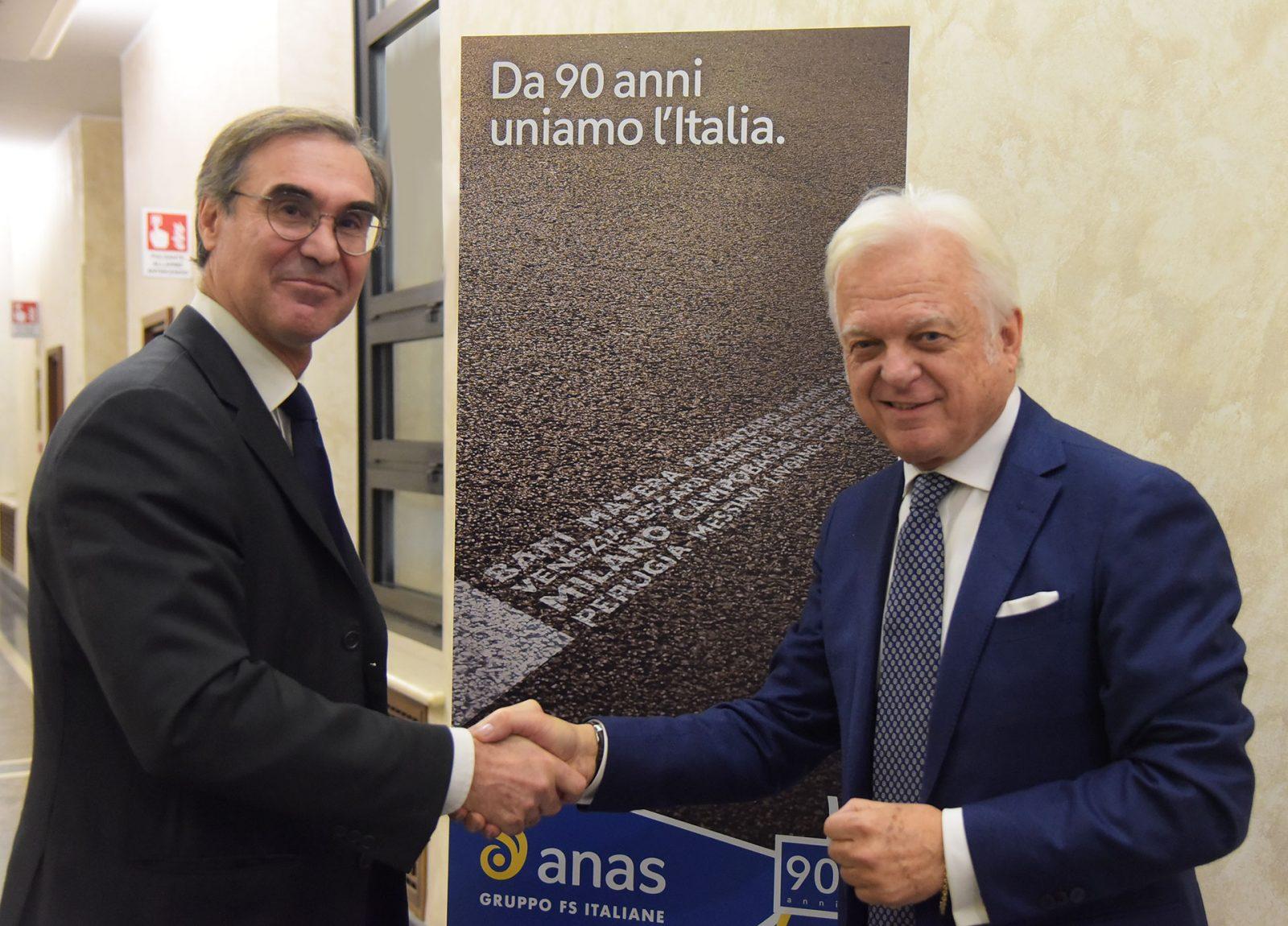 Anas, l'amministratore delegato Massimo Simonini e il presidente Claudio Andrea Gemme (Archivio Anas)