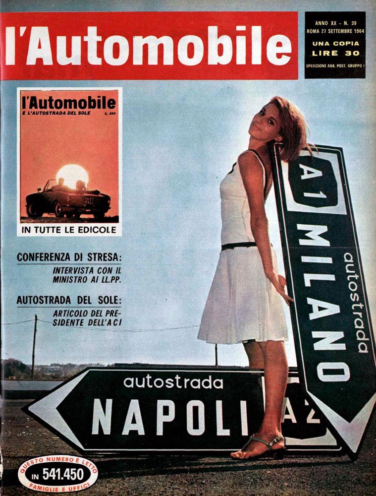 ACI, rivista l'Automobile del 27 settembre 1964 (fonte: bibliotecadigitale.aci.it)