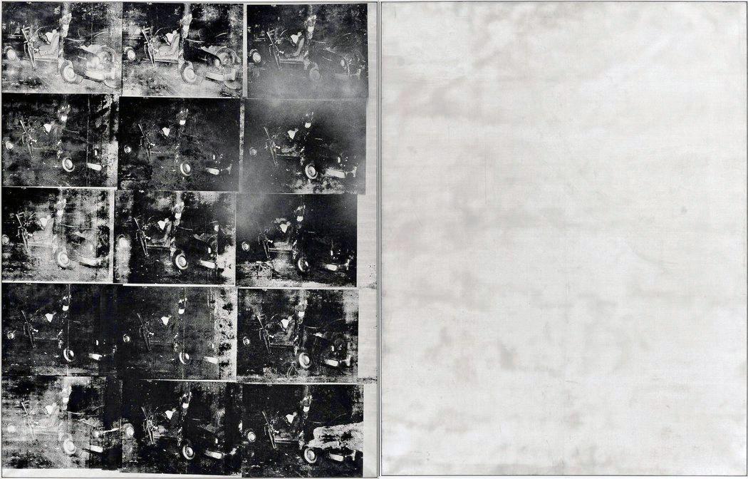 Andy Warhol: Silver Car Crash (Double Disaster), serigrafia del 1963 (fonte: nytimes.com)