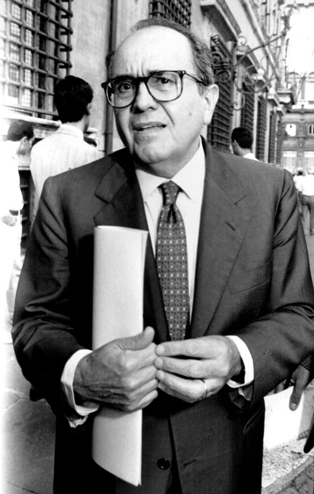 Francesco Merloni, foto del 1995 (fonte: Imagoeconomica)