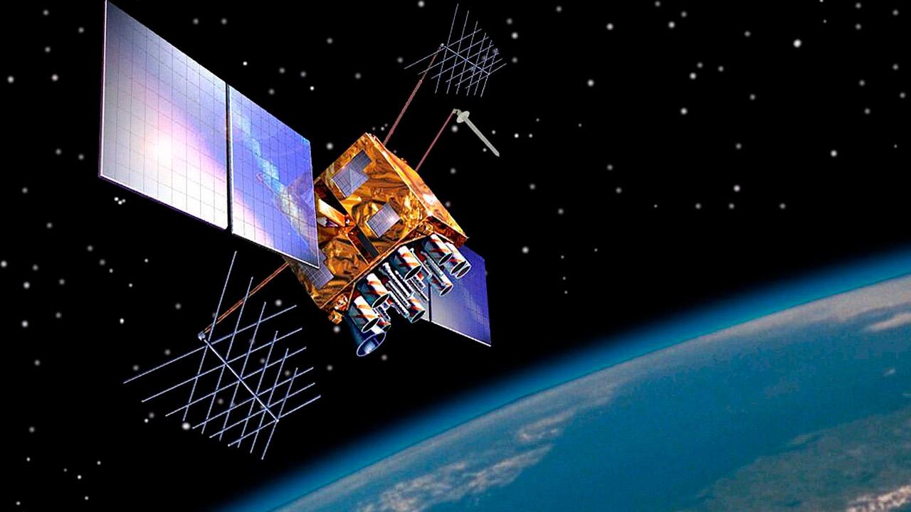 Rappresentazione di un satellite GPS