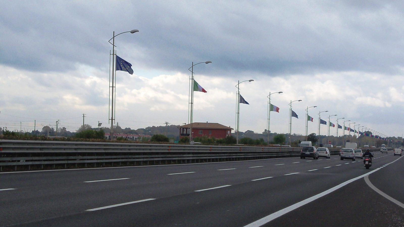 Autostrada Roma – Aeroporto di Fiumicino (Archivio storico Anas)