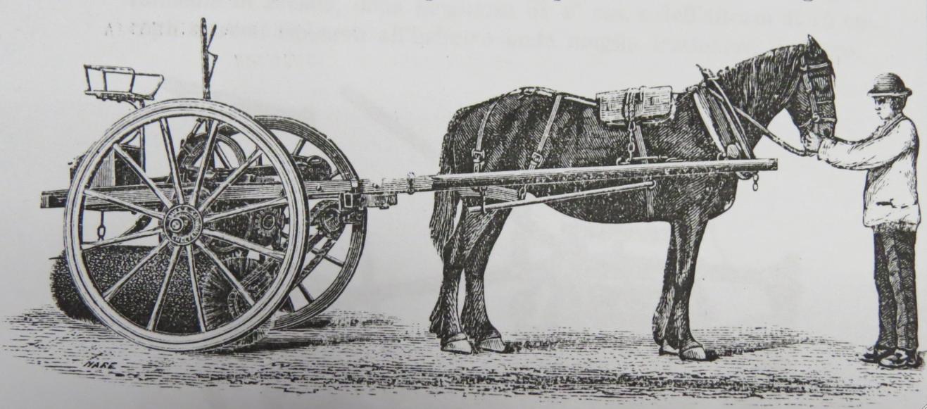 Scopatrice ad un cavallo (fonte: Archivio leStrade - Casa Editrice La Fiaccola)