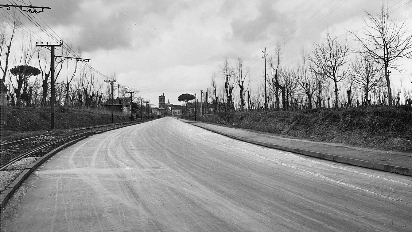 Campania, tratto stradale ad Aversa (Archivio storico Anas)