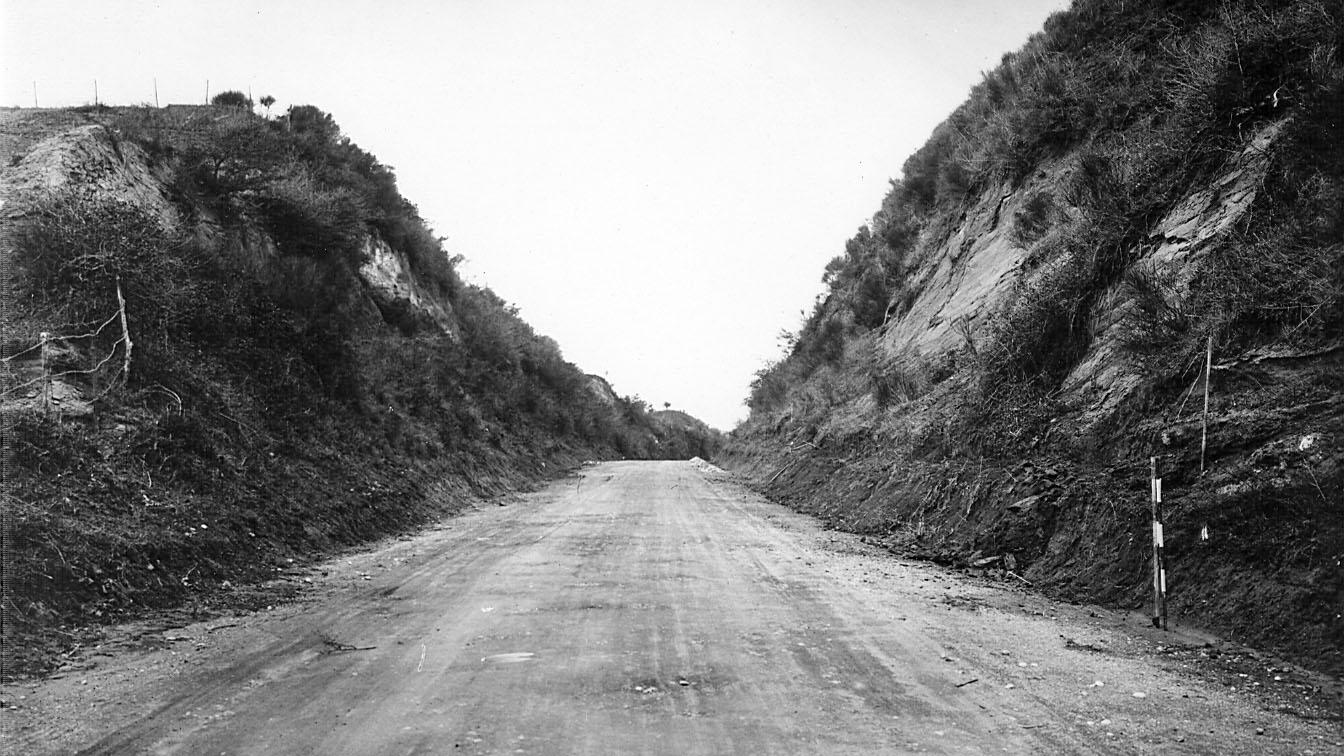 """Strada statale 2 """"Via Cassia"""", tratto Roma-Viterbo, 1932 (Archivio storico Anas)"""