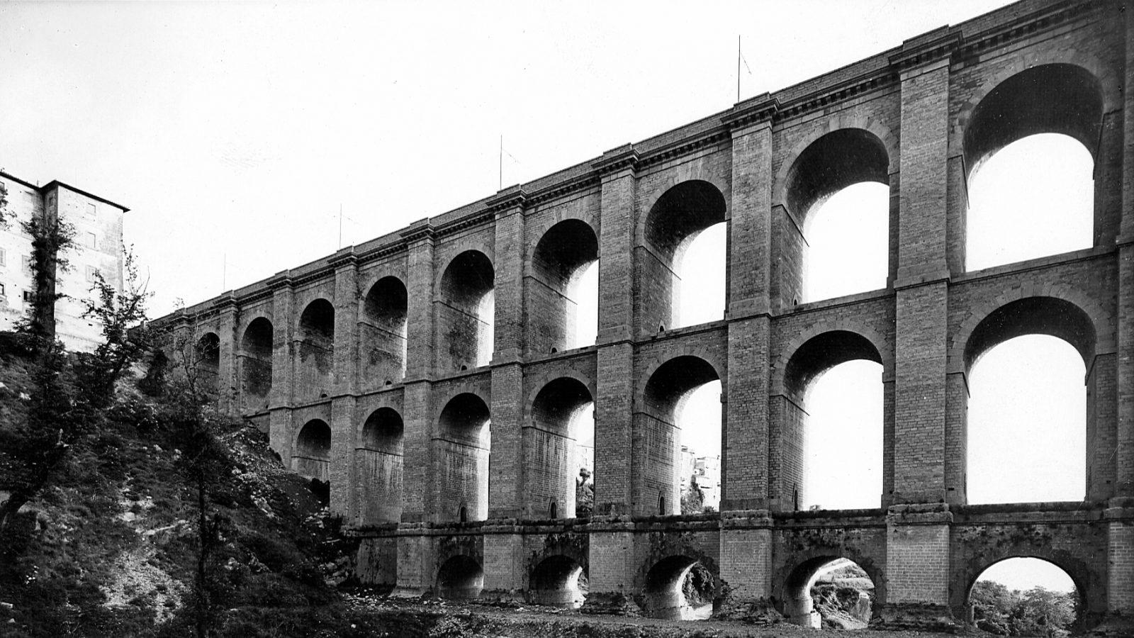 """Strada statale 7 """"Via Appia"""", ricostruzione del ponte di Ariccia 1946-1948 (Archivio storico Anas)"""