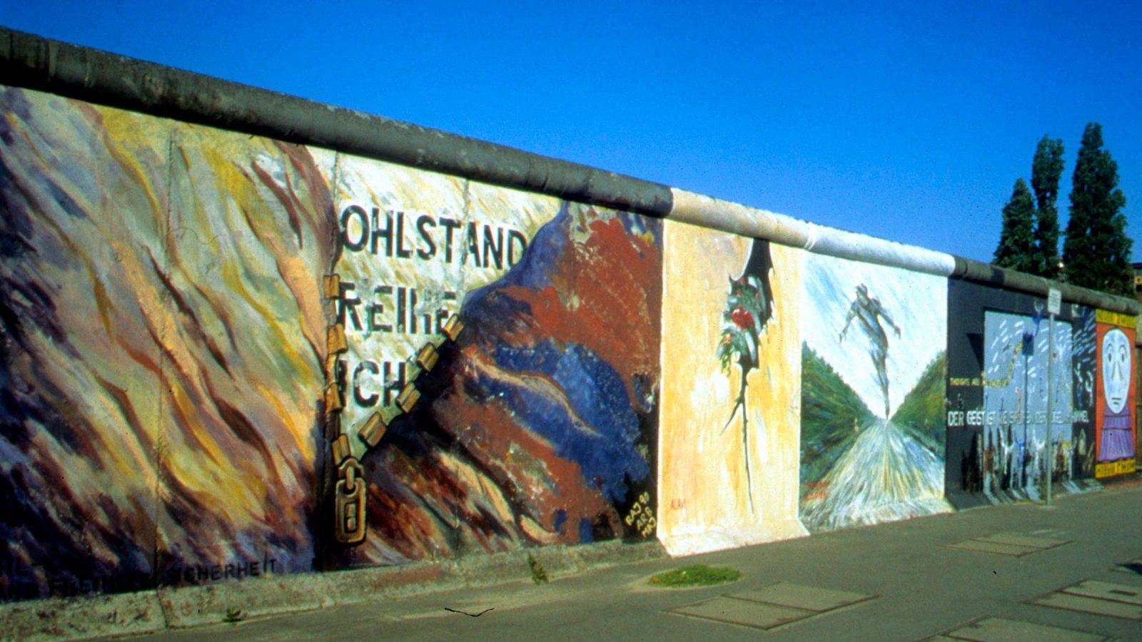 Parte del Muro di Berlino ancora in piedi (fonte: Imagoeconomica)