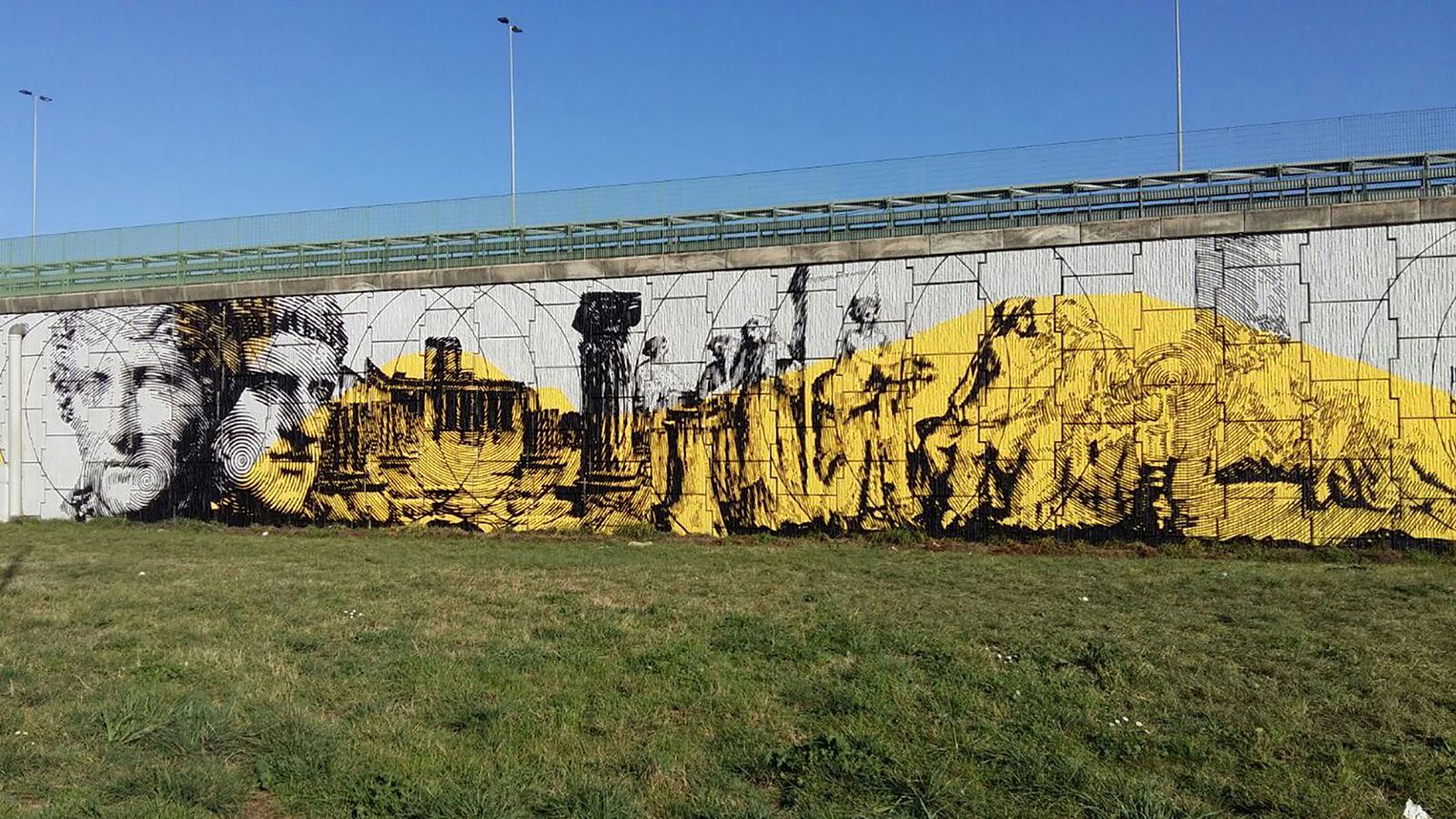 GRAArt, uno dei murales realizzati lungo il Grande Raccordo Anulare di Roma (Archivio storico Anas)