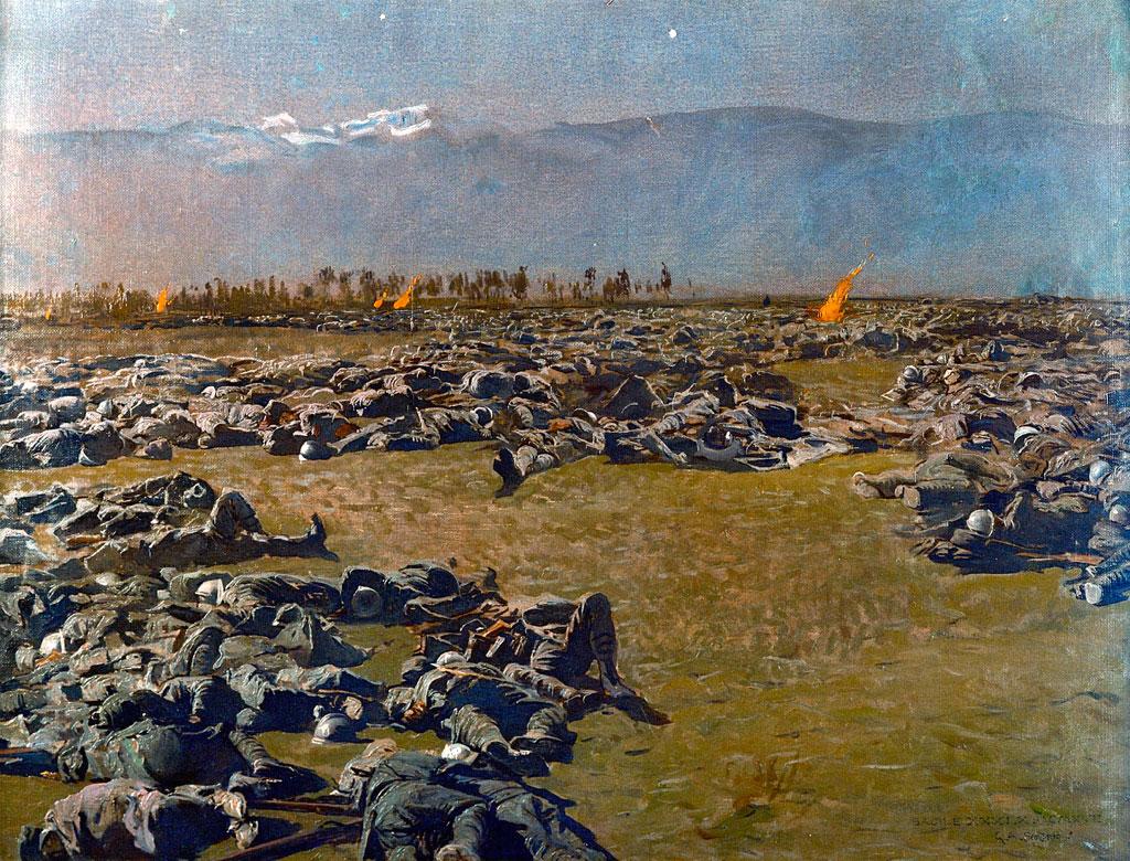 Giulio Aristide Sartorio, Sacile 31 ottobre 1917, olio su tela