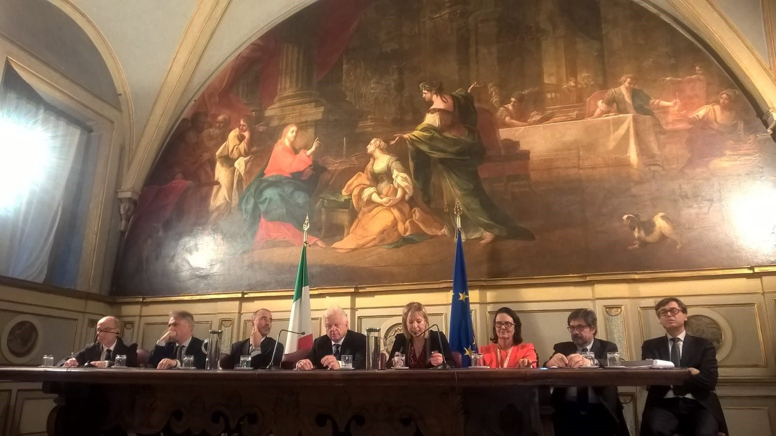 Confindustria, Claudio Andrea Gemme durante la presentazione della Carta per la sostenibilità e la competitività delle imprese nell'economia circolare (febbraio 2019)