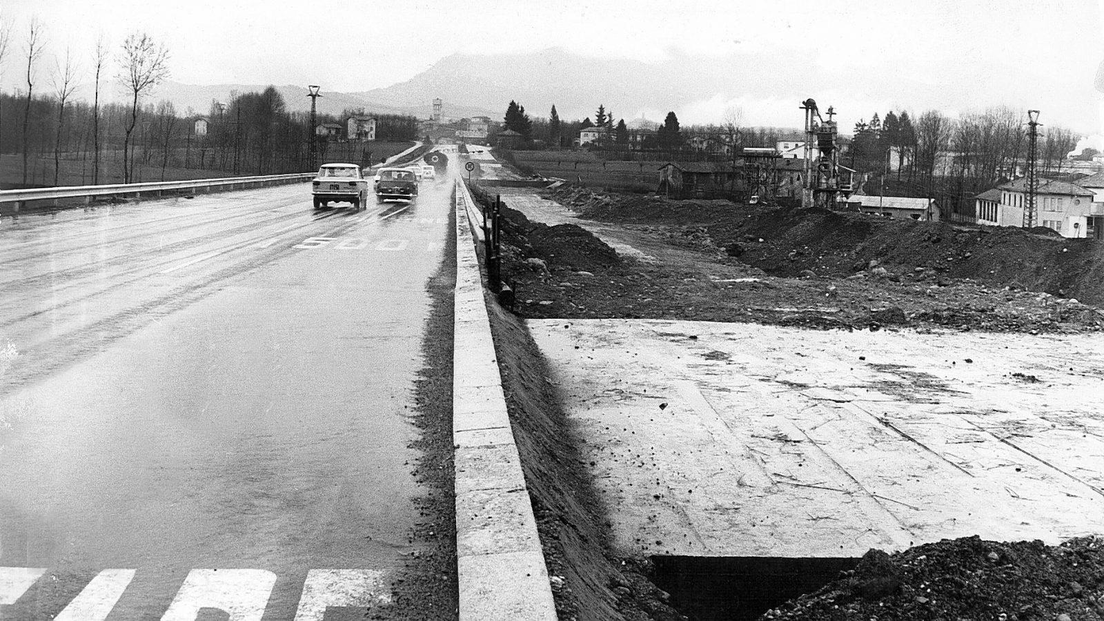 Autostrada A9 Milano-Como, lavori di raddoppio (Archivio storico Anas)