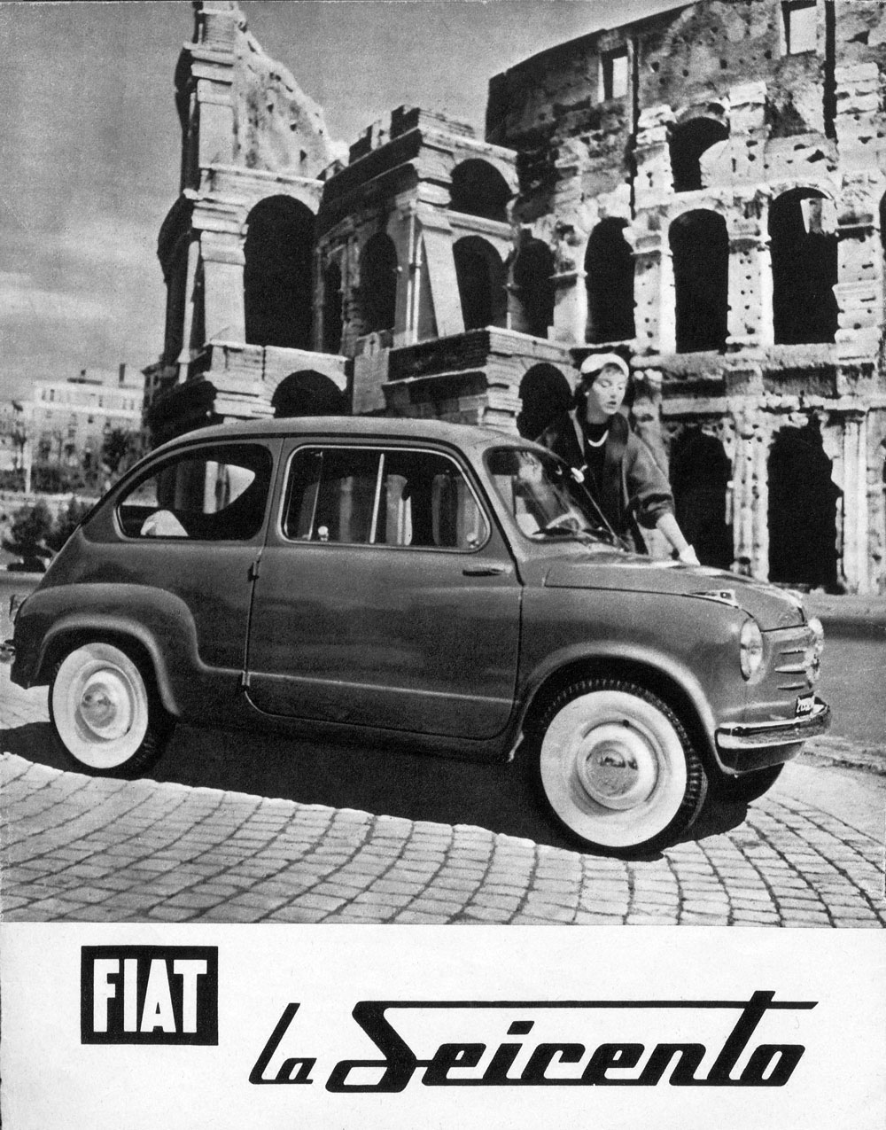 Pubblicità della FIAT 600 sulla rivista Settestrade di maggio 1955 (fonte: ACI)