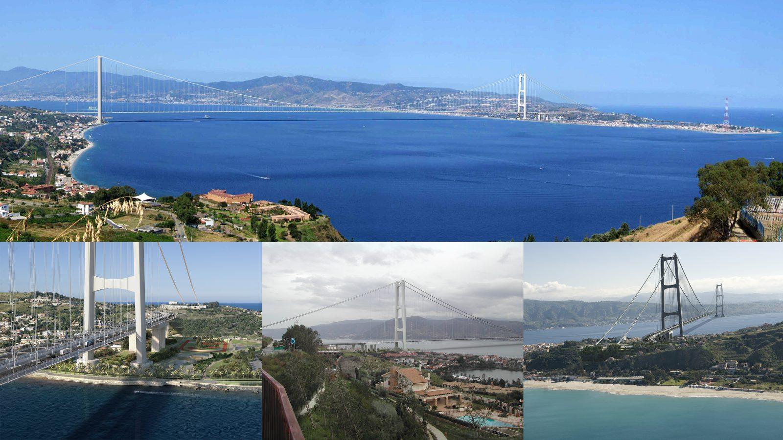 Ponte sullo Stretto di Messina – render del progetto definitivo Eurolink (Società Stretto di Messina)