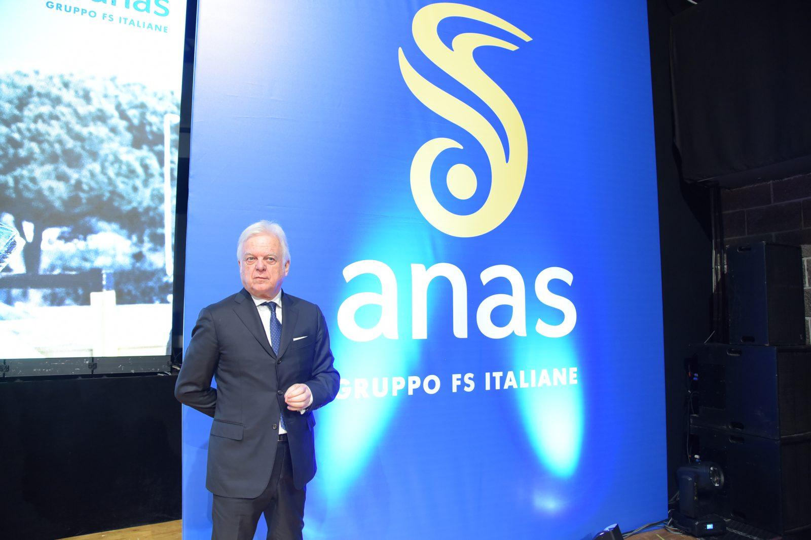 Il presidente Anas Claudio Andrea Gemme durante la Giornata del cantoniere (Archivio Anas, gennaio 2019)