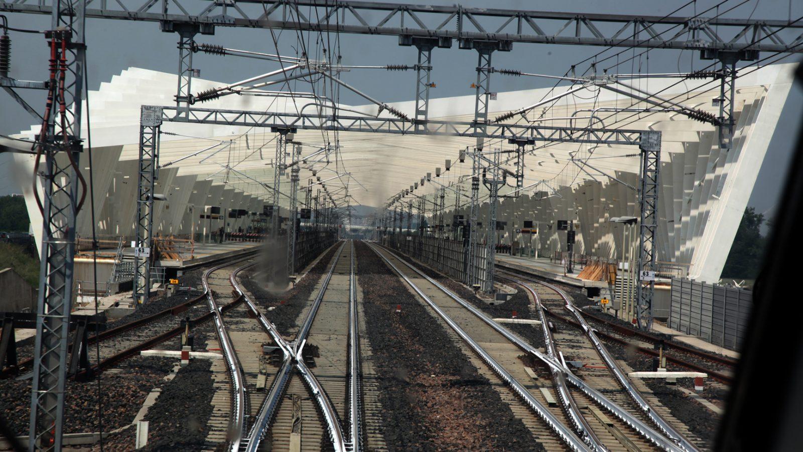 I binari della Stazione Reggio Emilia AV Mediopadana (fonte: Ferrovie dello Stato Italiane)