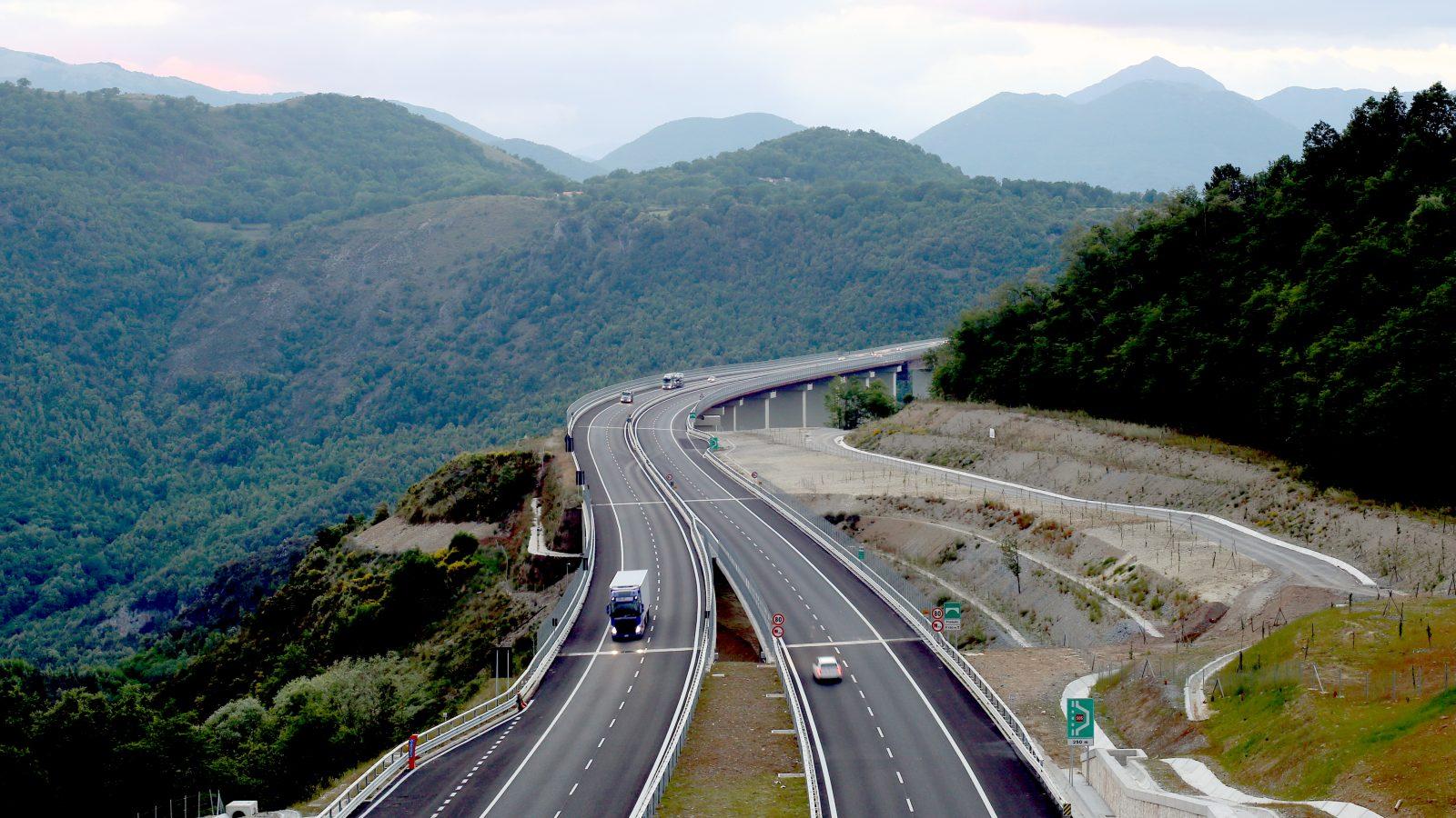 Autostrada del Mediterraneo, viadotto Filomato e viadotto Italia (Archivio storico Anas)