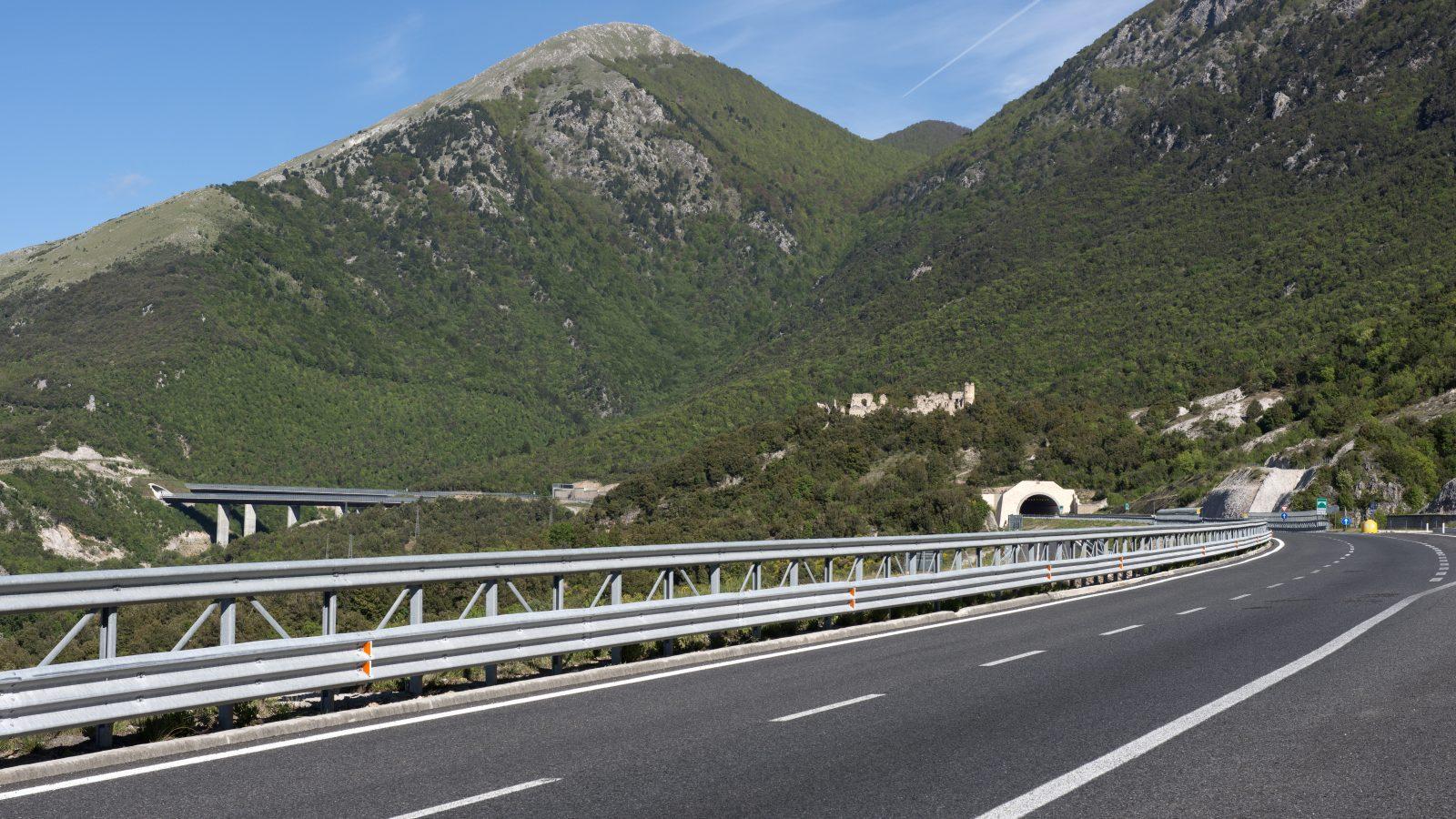 Autostrada del Mediterraneo, galleria Colloreto (Archivio storico Anas)