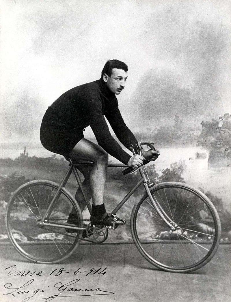 Luigi Ganna, vincitore della prima edizione del Giro d'Italia nel 1909