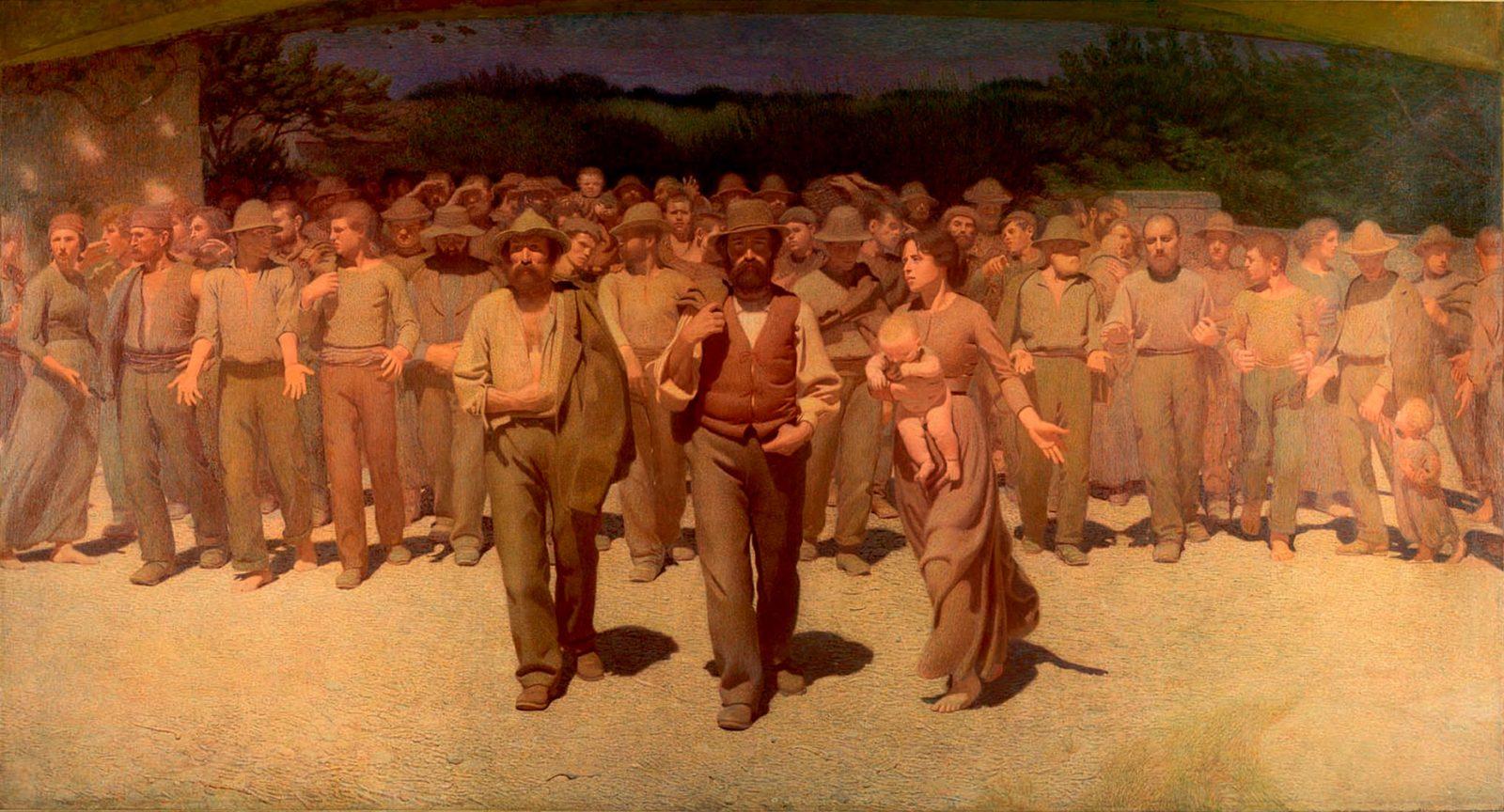 Giuseppe Pellizza da Volpedo, Il Quarto Stato, 1901, olio su tela, Museo del Novecento, Milano